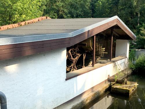 Mühlenrad der Walkenmühle in Lemgo/Brake